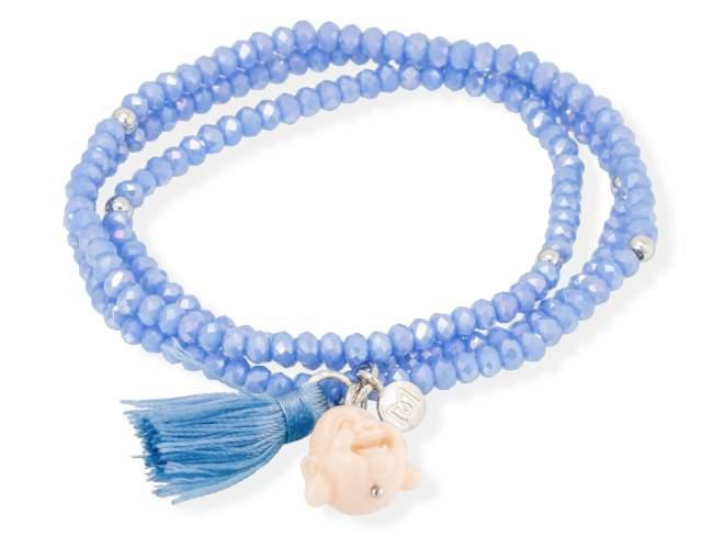 Bracelet ZEN Blue in silver de Marina Garcia Joyas en plata Bracelet in rhodium plated 925 sterling silver, faceted