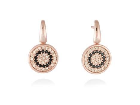 Earrings FULL MOON in rose silver