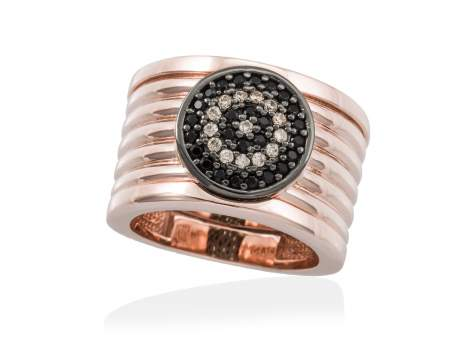 Ring FULL MOON in rose silver