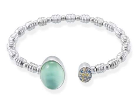 Bracelet HIDRA Green in silver