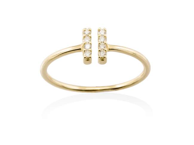 Ring in 18kt. Gold and diamonds de Marina Garcia Joyas en plata Ring in 18kt yellow gold and 8 diamonds carat total weight 0.06  (Color: Top Wesselton (G) Clarity: SI).