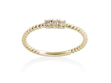 Ring in 18kt. Gold and diamonds