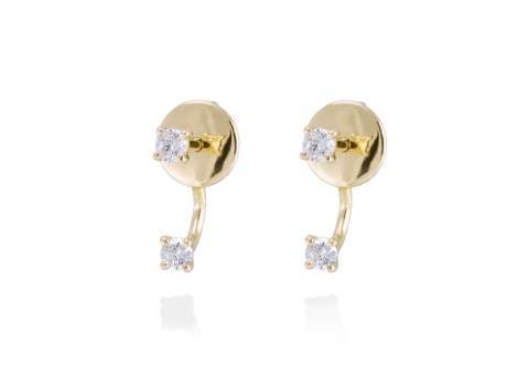 Earrings in 18kt. Gold and diamonds