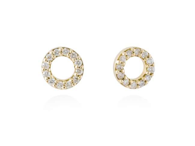 Pendientes en Oro 18Kt. y diamantes de Marina Garcia Joyas en plata Pendientes de Oro amarillo de ley (750/1000) con 24 diamantes de peso total 0,14 qt. (Color: Top Wesselton (G) Pureza: SI).