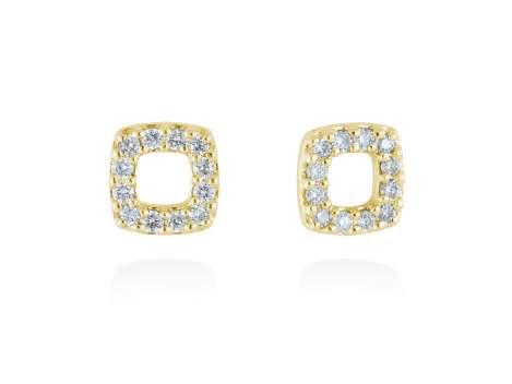 Pendientes en Oro 18Kt. y diamantes