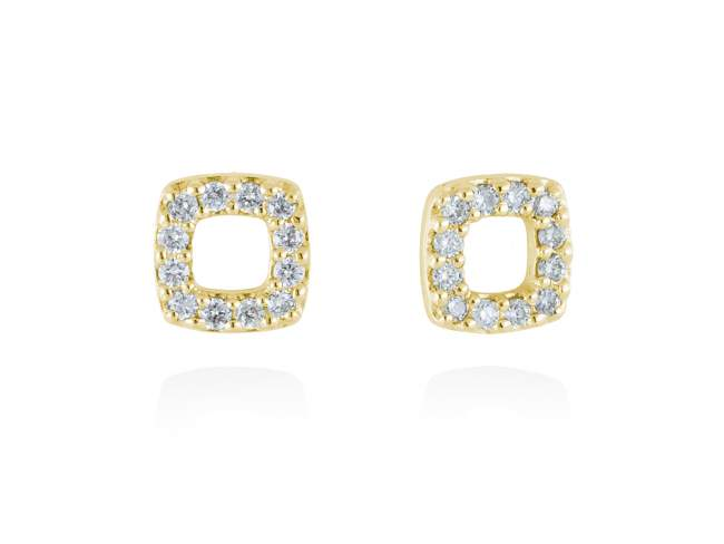 Earrings in 18kt. Gold and diamonds de Marina Garcia Joyas en plata Earrings in 18kt yellow gold with 24 diamonds carat total weight 0.19 (Color: Top Wesselton (G) Clarity: SI).