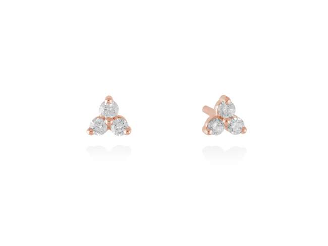 Earrings in 18kt. Gold and diamonds de Marina Garcia Joyas en plata Earrings in 18kt rose gold with 6 diamonds carat total weight 0.15  (Color: Wesselton (H) Clarity: SI).