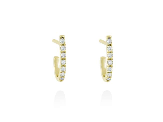 Earrings in 18kt. Gold and diamonds de Marina Garcia Joyas en plata Earrings in 18kt yellow gold with 14 diamonds carat total weight 0.14  (Color: Wesselton (H) Clarity: SI).