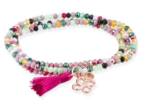 Bracelet ZEN Pink in rose silver