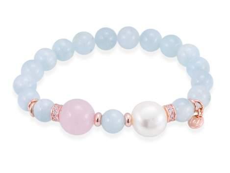 Bracelet AQUA Pink in rose silver
