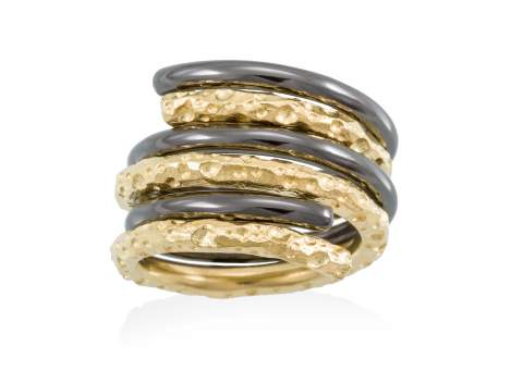 Ring COIN  in golden silver