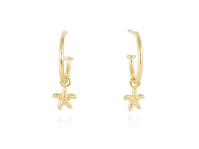 Earrings CABO  in golden silver de Marina Garcia Joyas en plata Earrings in 18kt yellow gold plated 925 sterling silver. (size: 2,5 cm.)