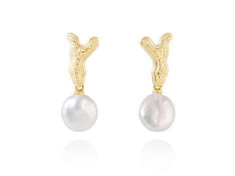 Earrings COIN  in golden silver