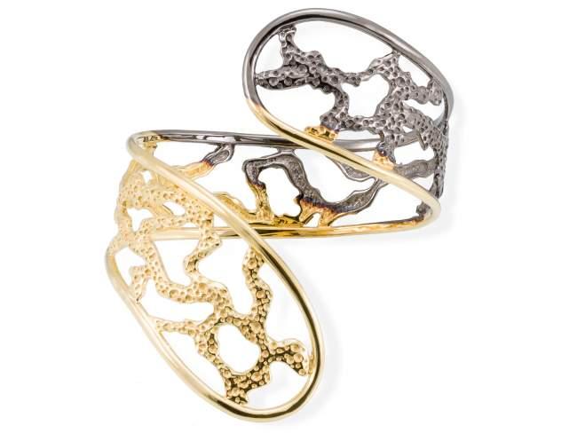Bracelet COIN  in golden silver de Marina Garcia Joyas en plata Bracelet in 18kt yellow gold and ruthenium plated 925 sterling silver.