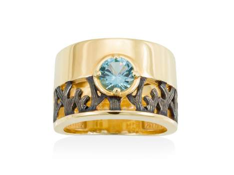Ring ARRECIFE Blue in golden silver