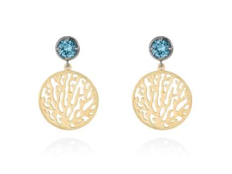 Earrings ARRECIFE Blue in golden silver