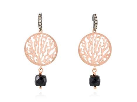 Earrings ARRECIFE Black in rose silver