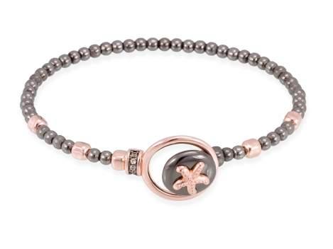 Bracelet CORAL Cognac in rose silver