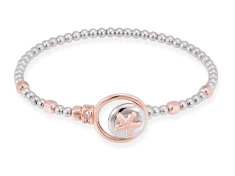 Bracelet CORAL White in rose silver