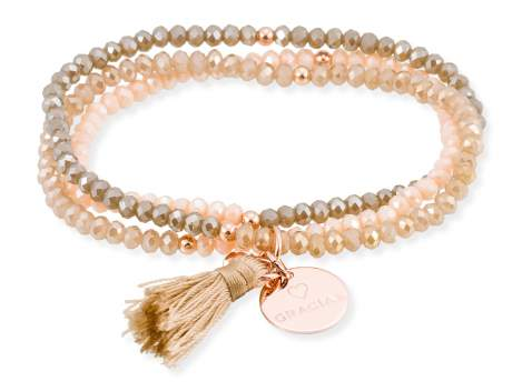 Bracelet ZEN Brown in rose silver