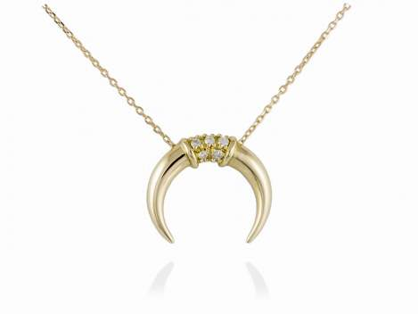 Necklace in 18kt. Gold and diamonds