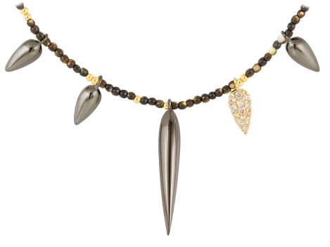 Necklace TRUCO Cognac in black silver