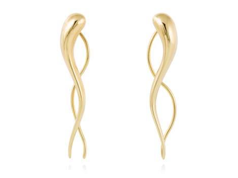 Earrings VARITA  in golden silver