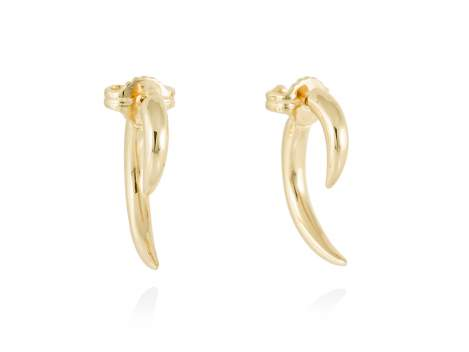 Earrings HUMO  in golden silver