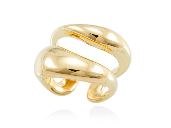Ring HUMO  in golden silver de Marina Garcia Joyas en plata <p>Ring in 18kt yellow gold plated 925 sterling silver.</p>