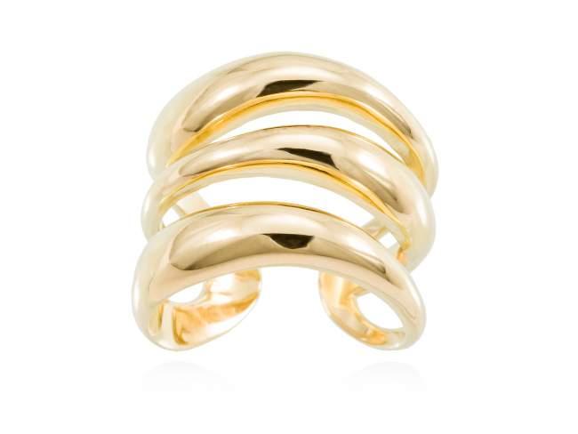 Ring HUMO  in golden silver de Marina Garcia Joyas en plata Ring in 18kt yellow gold plated 925 sterling silver.