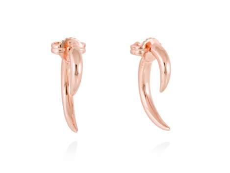 Earrings HUMO  in rose silver