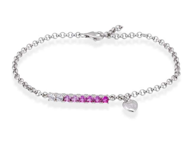GEICAM solidarity bracelet in silver de Marina Garcia Joyas en plata <p>Bracelet in sterling silver and zirconia. This jewel symbolizes recovery from illness. 50% of the profits obtained from the sale of this collection will be donated to the GEICAM Association, a leading research group in Spain.</p>